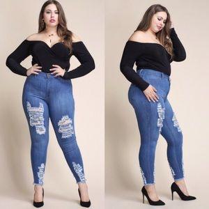 Pants - 🆕PLUS!!! Distressed Skinny